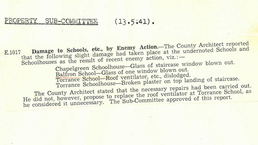 Image of Circular concerning damage to Schools