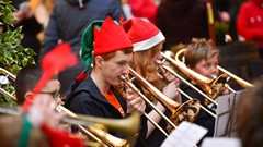 Christmas Light Switch On Event Brass Band
