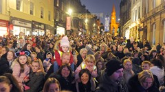 Crowds gather for Stirling's Christmas Lights switch on