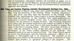 Stirling Burgh Town Council Minutes 1945