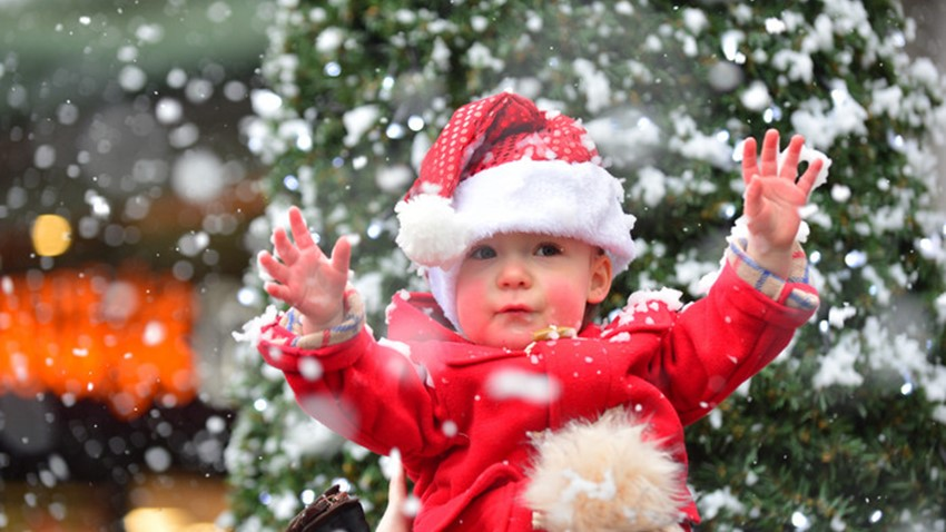 Image of Child at Christmas Light Swith On Event