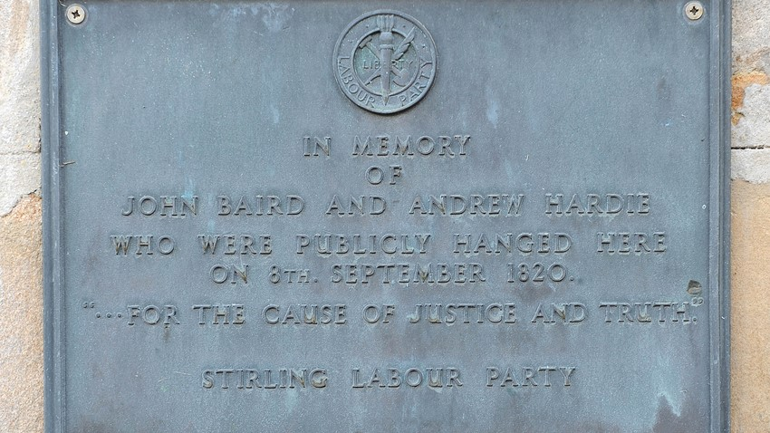Image of Baird and Hardie plaque