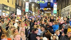 Crowds at Christmas Lights Switch on