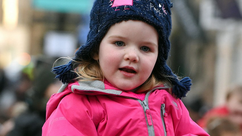 Image of Child's amazement at Christmas Light Switch on Event