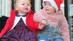 Toddlers at Christmas Lights Switch on Event