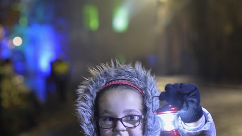 Halloween Parade, Girl with Lantern