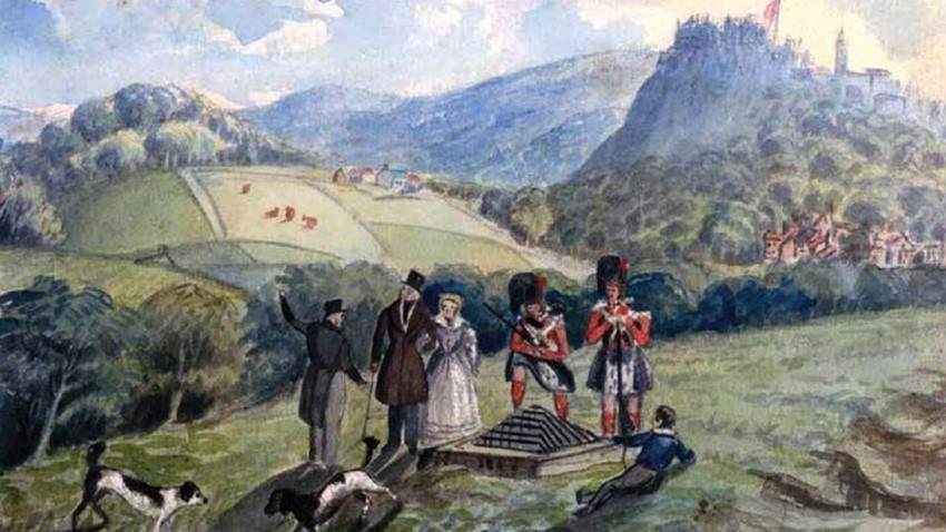 Potrait of Stirling Castle and Soldiers