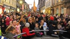 Christmas Light Switch on Event Crowds