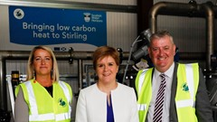 First Minister, Carol Beattie and Councillor Farmer