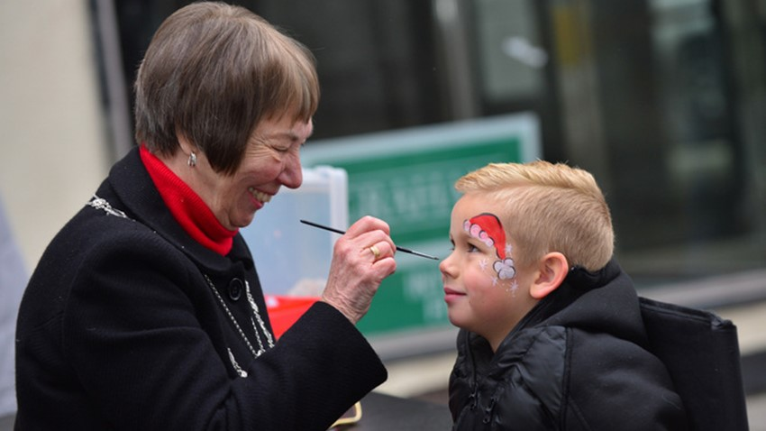 Image of Christmas Lights Event, Provost Facepainting boy