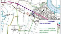 Hollowburn Bridge Alternative Routes along the A905 or the Core Paths and National Cycle Network