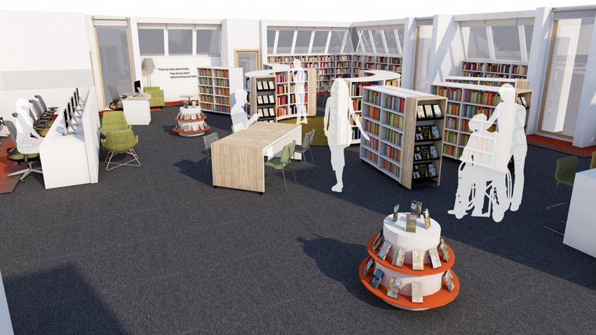 Image of Main Library 3D interior view