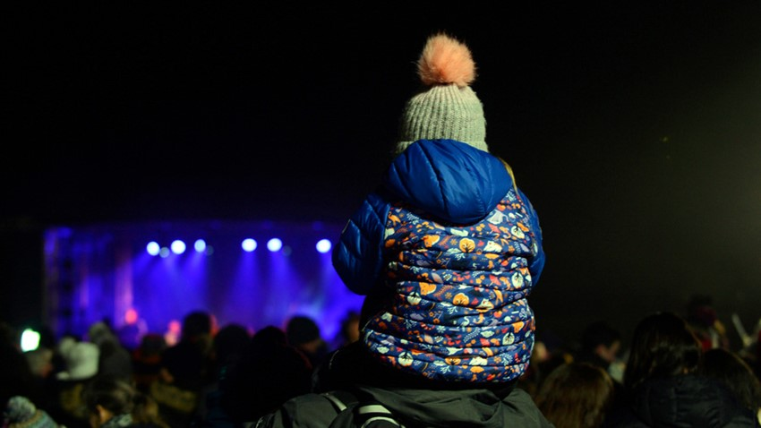 Image of Child watches Hogmanay Concert