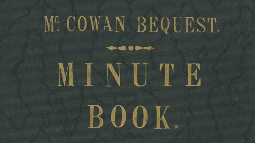 Image of McCowan-Bequest-minute-book