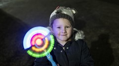 Child with Light up Wand, Stirling Hogmanay