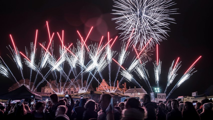 Image of Fireworks at Stirling's Hogmanay 2019