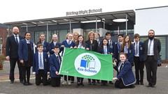Eco-Schools Banner Held By School Children