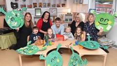 Staff and children at Cornton Nursery