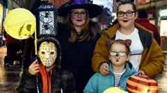Family Pose, Halloween Parade