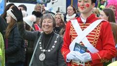 Christmas Light Switch On Event, Entertainer and Provost