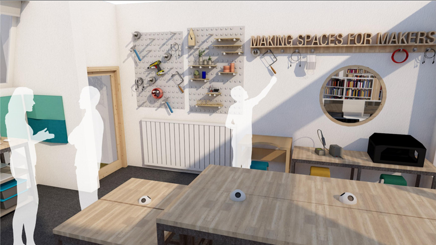 Image of Makerspace 3D View Interior View