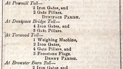 Toll Gates For Sale, Stirling Observer, 06 Jan 1881