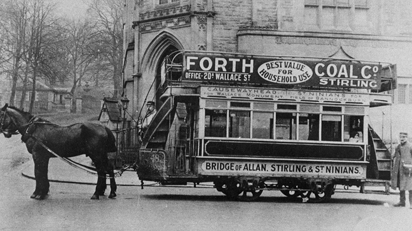Old Photo, Horse and Tram
