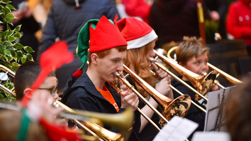 Image of Christmas Light Switch On Event Brass Band