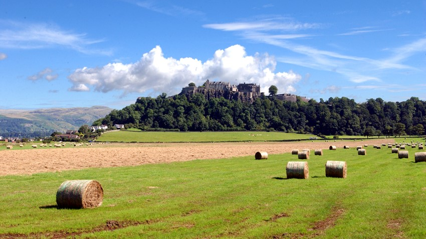 Image of Fields in Front of Stirling Castle
