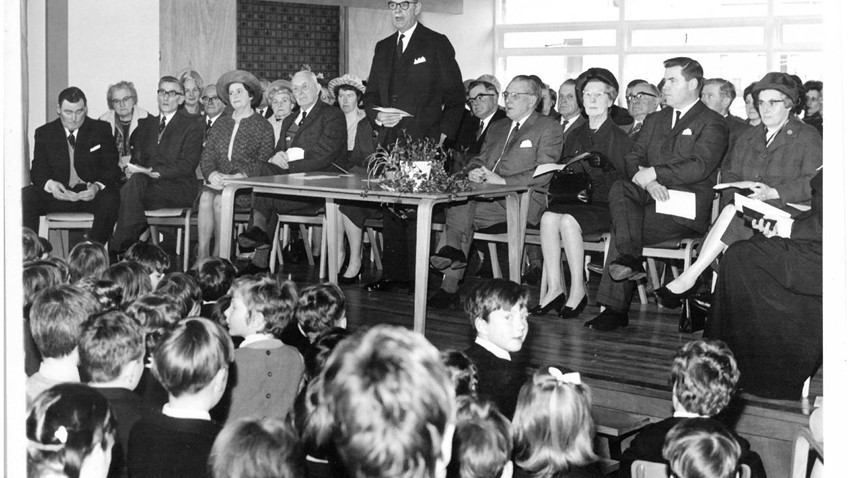 Image of the opening of Doune Primary School