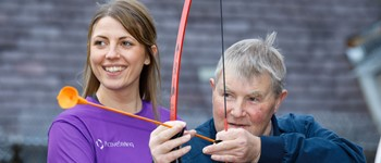 Active Stirling staff helping service users get fit and healthy