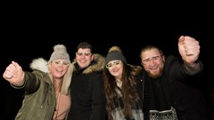 Stirling's Hogmanay Crowd Celebrate
