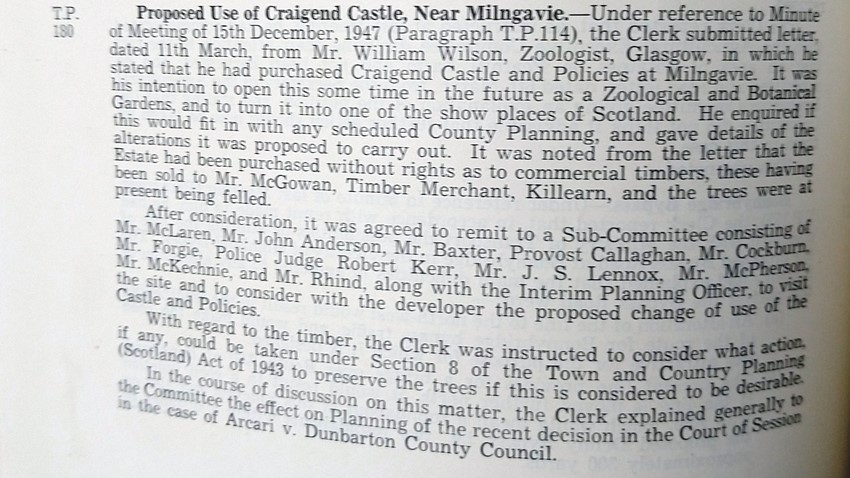 Stirling County Council Minutes 13 03 1948