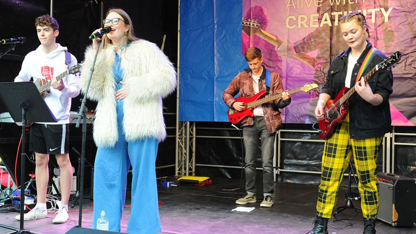 Image of Christmas Light Switch on Event Entertainers