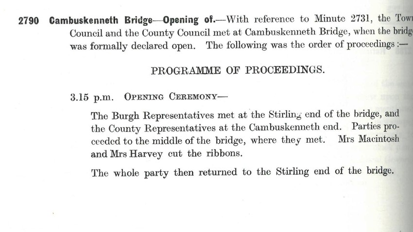 Image of Stirling Town Council Minutes 15 Oct 1935