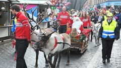 Santa visiting Stirling Town Centre