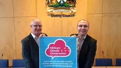 Cllrs Thomson and Gibson encourage the public to attend Stirling's Climate Conversation