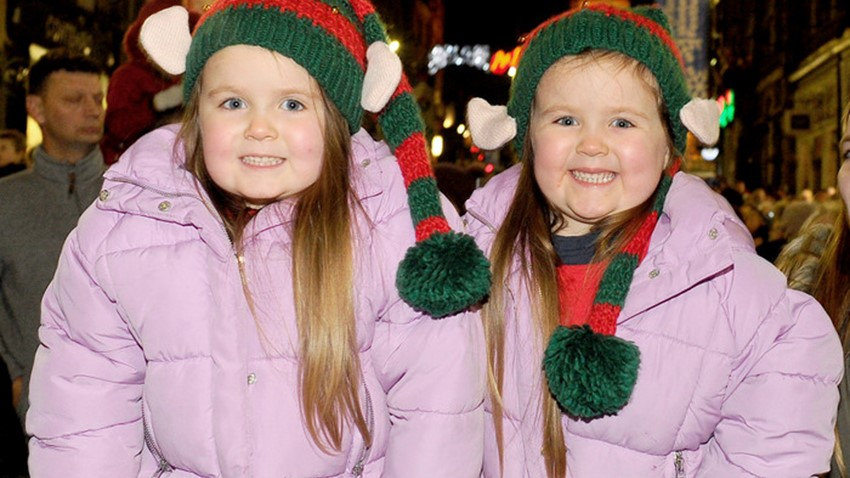 Image of Girls at Christmas Lights Switch on Event