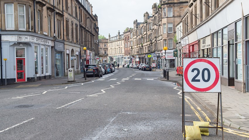 Image of Barnton St COVID Traffic