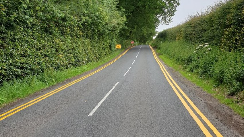 Image of Finnich Glen - double yellow lines