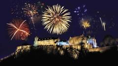 Fireworks over Stirling Castle