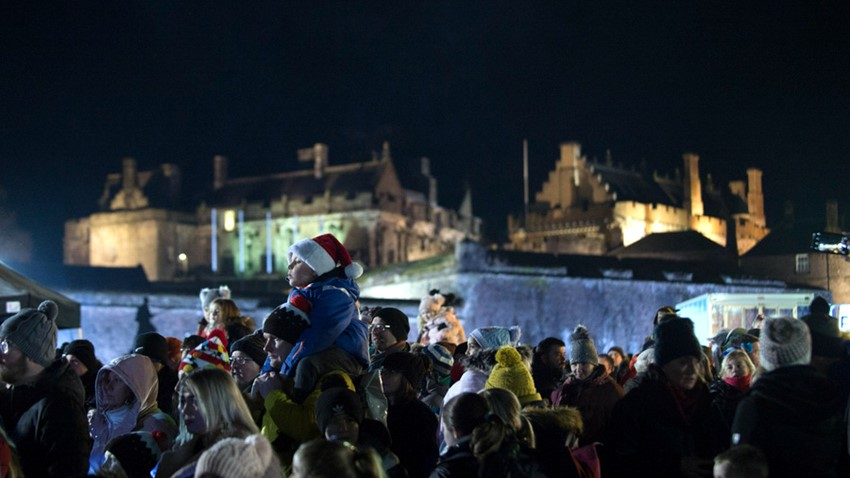 Image of Crowds Stirling's Hogmanay Event