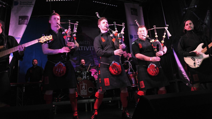 Image of Pipe Band Stirling's Hogmanay