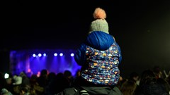 Child watches Hogmanay Concert