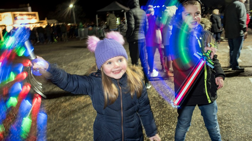 Image of Children playing at Stirling's Hogmanay
