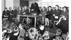 the opening of Doune Primary School