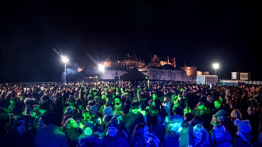 Image of Stirling's Hogmanay Crowds