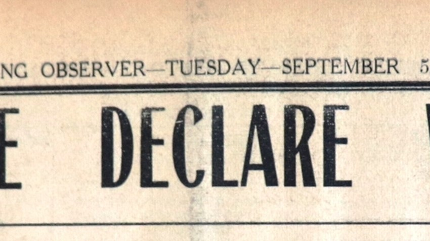 Newspaper Clipping: Britain and France Declare War on Germany