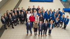 Dunblane HS pupils and Staff celebrate League Table success