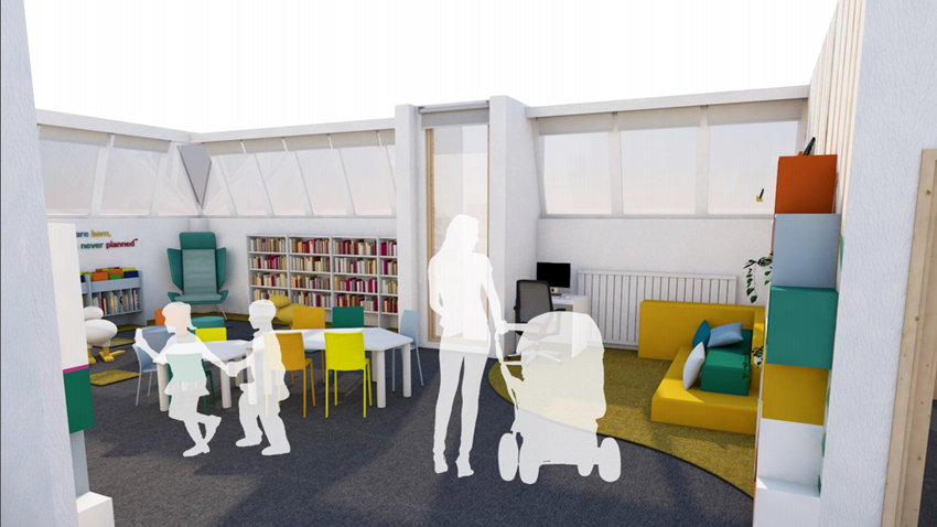 Image of Children's Library 3D Interior View 2